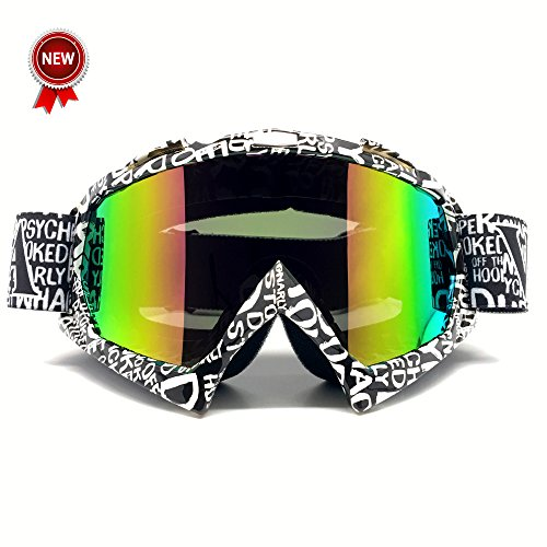 Zdatt Bendable Snow Skiing Snowboarding Goggles,Unisex Motocross Sports Snowmobile Snowboard Ski Goggles Anti Fog Dust UV, Dustproof Scratch-Resistant (Snowboard Resin)