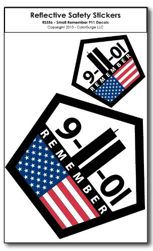 Small remember 911 reflective decals
