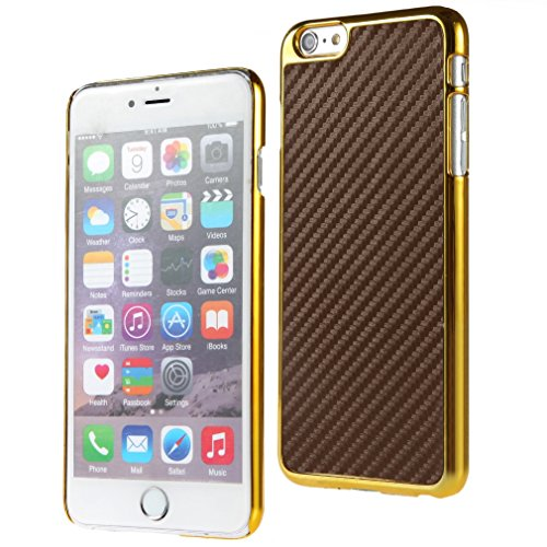 Bralexx Case für Apple iPhone 6 Plus 14 cm (5,5 Zoll) gold/braun/carbon