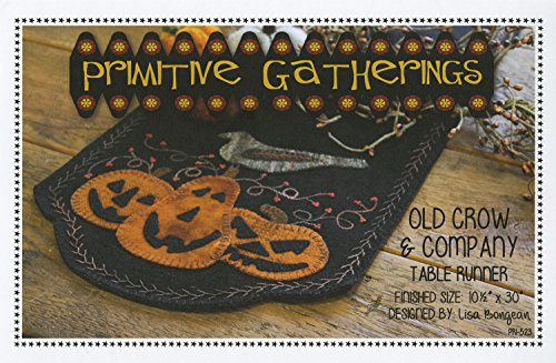 Wool Folk Art (Old Crow and Company Pumpkin Halloween Autumn Wool Pattern Primitive Gatherings)