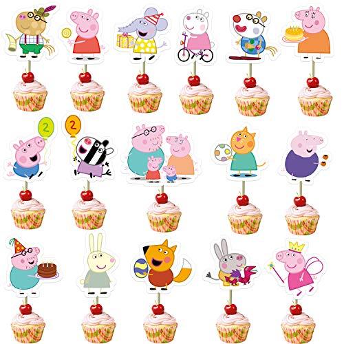 32 decoraciones para cupcakes de Peppa Pig para baby shower ...
