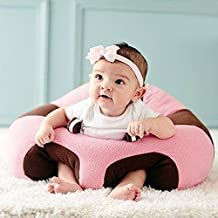 GshoppingLife 2017 Lovely Baby Support Seat Sofa Plush Soft Animal Shaped Baby Learning To Sit Chair Keep Sitting Posture Comfortable For 0-3 Months Baby(Pink)