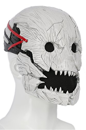 xcoser Dead Daylight Mask Deluxe Half Head Helmet Trapper Adult Cosplay Props by xcoser (Image #5)