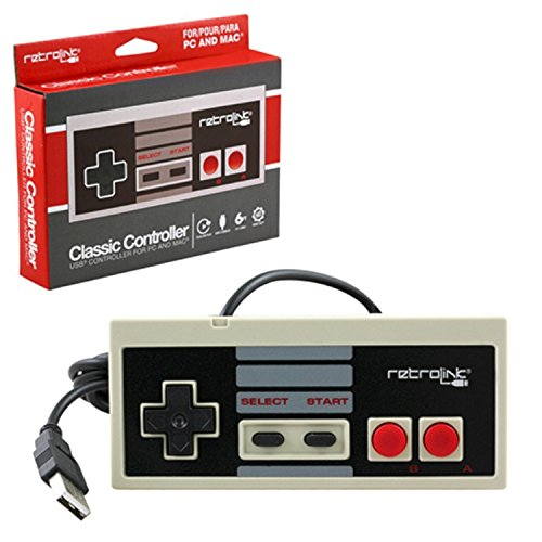 Retro-Link Wired NES Style USB Controller by Retro-Link