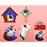 Black Nativity Variety Christmas Ornament Set (Set of 4)