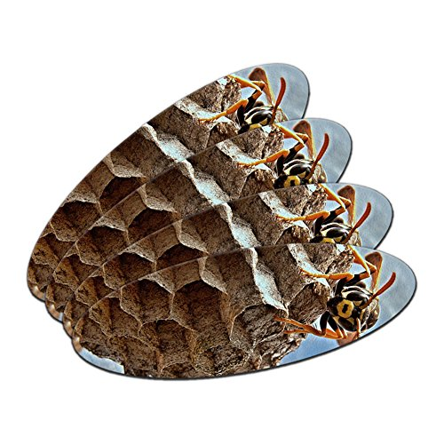 bee-wasp-hornet-and-nest-hive-double-sided-oval-nail-file-emery-board-set-4-pack