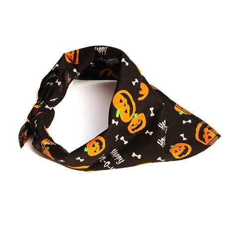 POPETPOP Perros Gatos Bandana para Halloween, Ajustable Cachorro triángulo écharpes, Baberos Accesorios para Mascotas