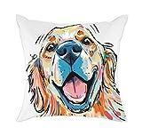 Best Pillow Cases Of Dogs Arts - Redland Art Cute Pet Golden Retriever Dog Pattern Review