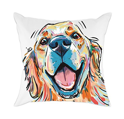 Redland Art Cute Pet Golden Retriever Dog Pattern Cotton Polyester Throw Pillow Covers Car Sofa Cushion Cover Pillowcases Home Decor 18