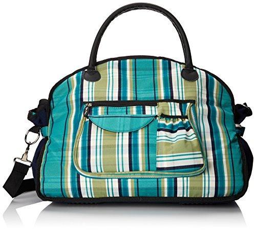 Sassy Caddy Women's Preppy Tote Bag Teal/Navy/White [並行輸入品] B07DXMZWP3