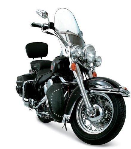 Desert Dawgs Rain Guards/Wind Deflectors for Harley Softail & FatBoy (Chrome Studded)