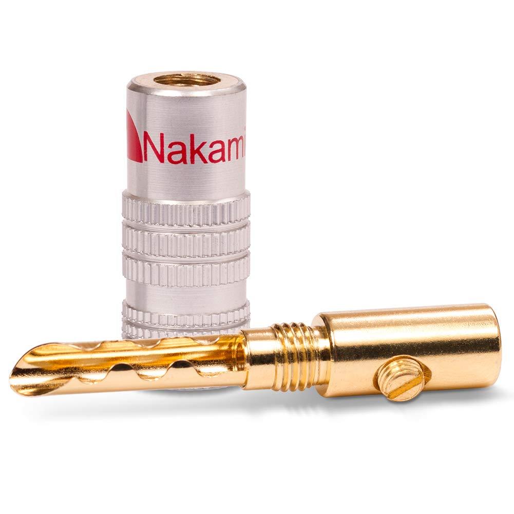 40x High End Nakamichi Bananenstecker Bananas Banana f/ür Kabel bis 6mm/² 24K l/öt oder schraubbar vergoldet kein Plastik in schwarz und rot