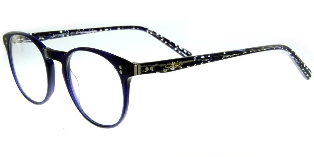 Aloha Eyewear Tek Spex 2002 Unisex RX-Able Progressive Reader Glasses / Sunglasses Made in Italy with Photochromic Lens (Demi Blue +2.50)