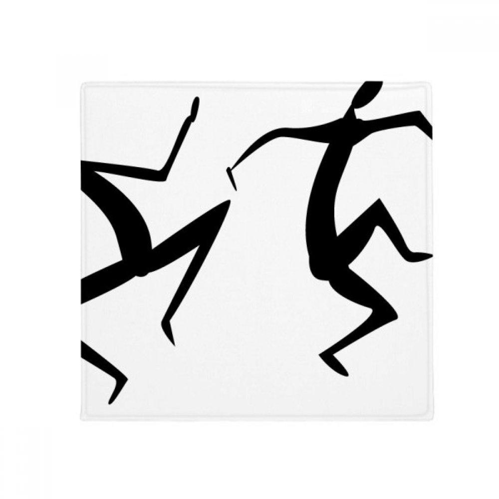 DIYthinker Egypt Dance Totem Abstract Fresco Funny Anti-Slip Floor Pet Mat Square Home Kitchen Door 80Cm Gift