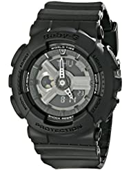 Casio Womens BA-110BC-1ACR Baby G Analog-Digital Display Quartz Black Watch