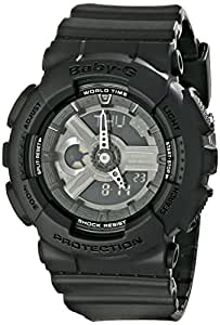 Casio Women's BA-110BC-1ACR Baby G Analog-Digital Display Quartz Black Watch