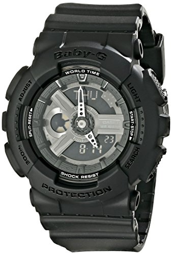 Casio Women's BA-110BC-1ACR Baby G Analog-Digital Display Quartz Black Watch ()