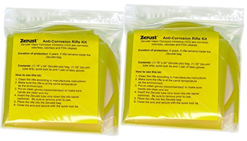 Two pack of Zerust VCI Rifle Kit, Bag, Barrel Tube (0.25