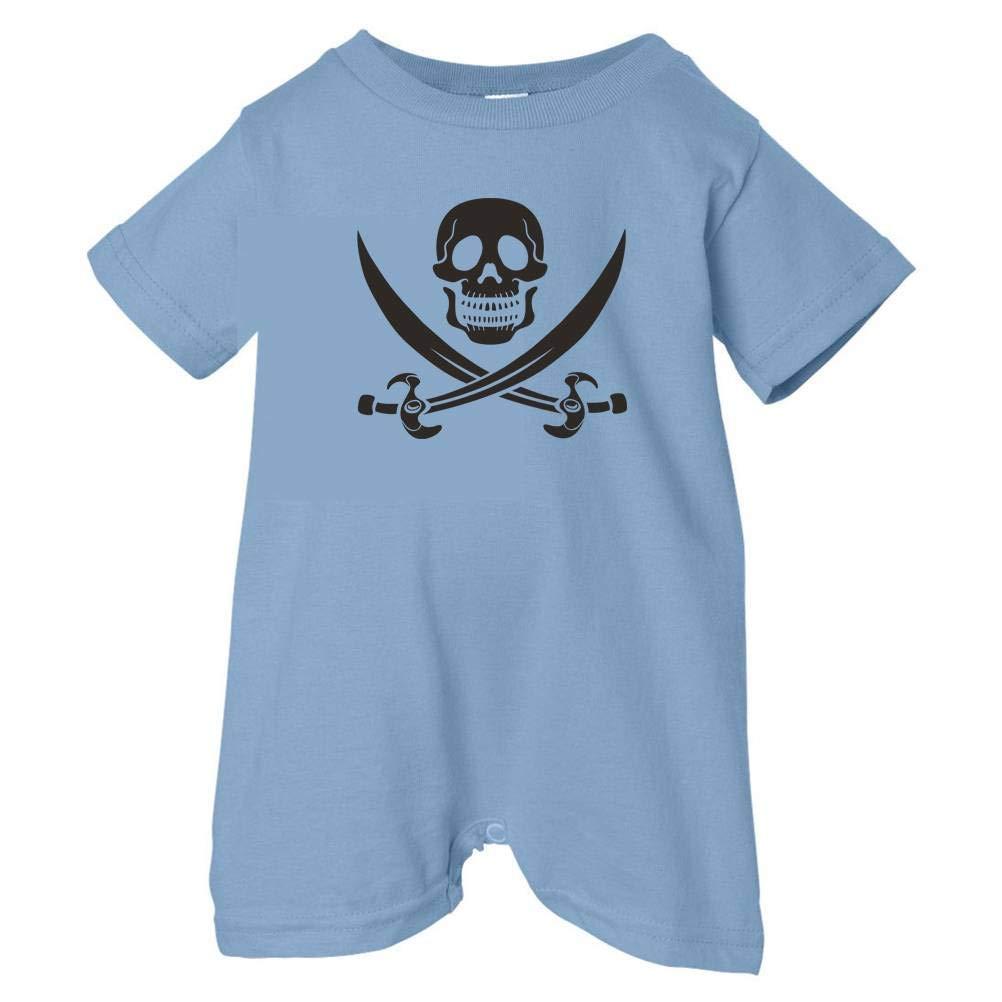 T-Shirt Romper Pirates /& Anchors Unisex Baby Skull /& Crossbones Black