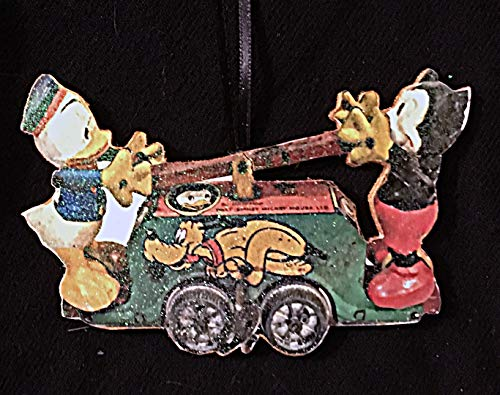 - Lionel Train Disney Handcar Christmas Ornament Handcrafted Wood, Donald Duck Mickey Mouse Vintage Toy Child Ornament, Lionel Train Set,