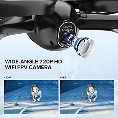 Potensic U47 Camera Drone, FPV RC Quadcotper with 720P HD Camera Live Video, Altitude Hold, Headless Mode, One Key Return and Speed Adjustment by SDFSFS