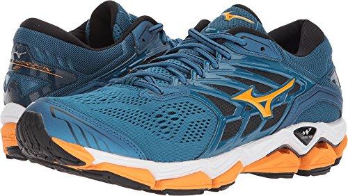- Mizuno Wave Horizon 2 Men's Running Shoes, Blue Sapphire/Bright Marigold/Black, 10 D US