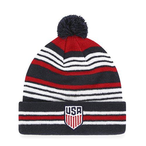 U.S. Soccer Men's National Team Kid's Rickshaw OTS Cuff Knit Cap with Pom, Logo, Kid's