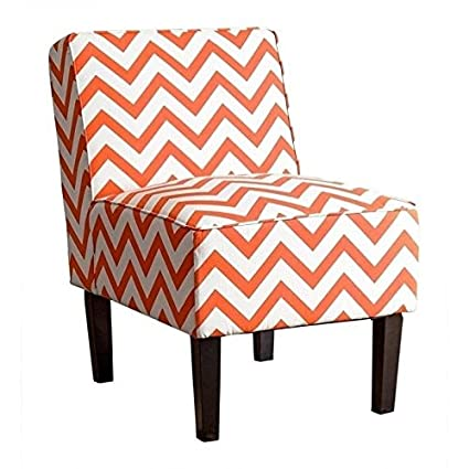 Fabulous Amazon Com Bowery Hill Chevron Print Fabric Accent Chair In Ocoug Best Dining Table And Chair Ideas Images Ocougorg