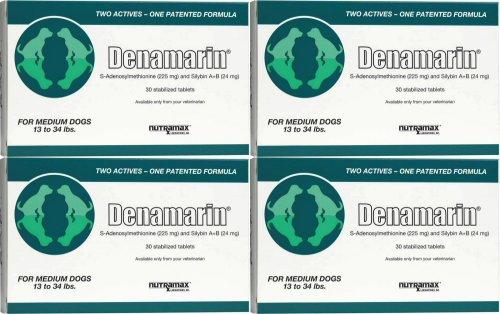 Nutramax Denamarin Tablets for Medium Dogs 120ct (4 x 30ct)