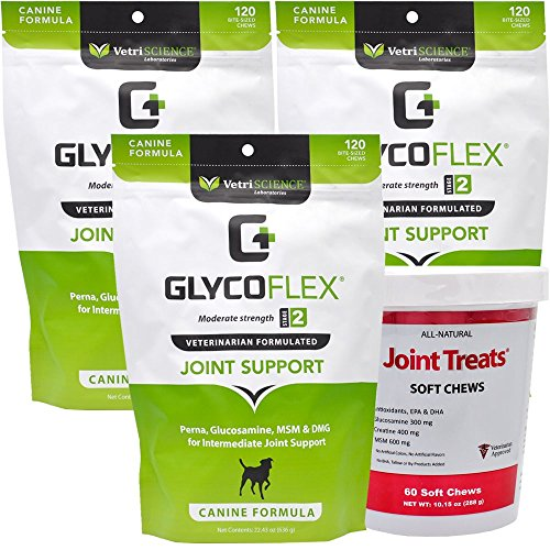 3PACK GlycoFlex 2 (360 Soft Chews) by VetriScience Laboratories