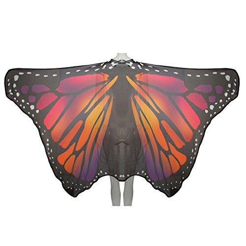 Sasha Kids Girls Chiffon Butterfly Wings Cape (Wing Cape Costume)