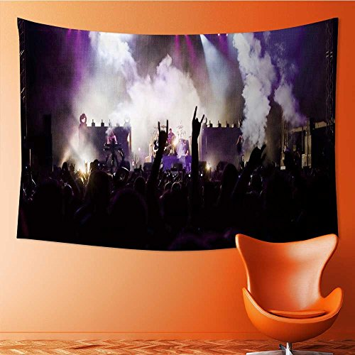 AmaPark Polyester Tapestry Wall Hanging Crowd at a Concert Wall Decor for Bedroom Living Room Dorm 60W x 40L Inch