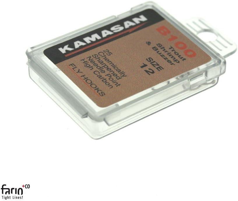 pour Montage de Mouches Taille au Choix 25 x Kamasan hame/çons B100