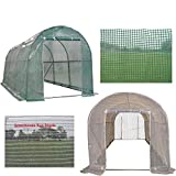 DELTA Canopies Green Garden Hot House Walk In Greenhouse 15'x7' + Sun Shade Cover