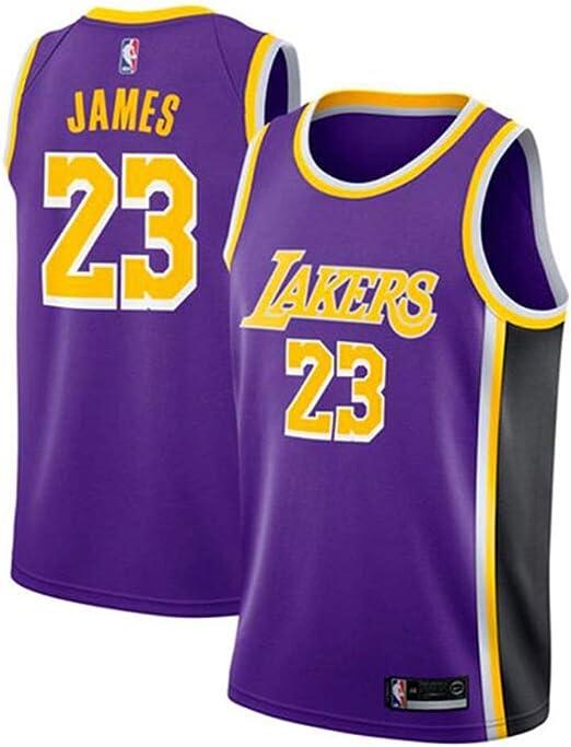 TISNA Hombres Jerseys, NBA Lakers 23 Lebron James, Baloncesto ...
