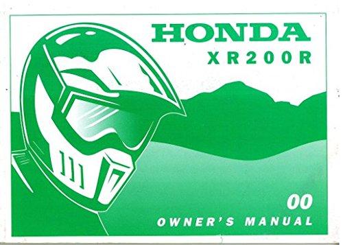 31KT0720 2000 Honda XR200R Motorcycle Owners Manual