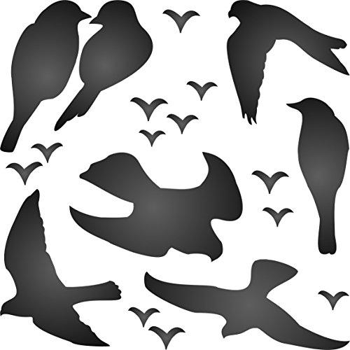 Stencil Love Bird - Birds Stencil (size 6.75