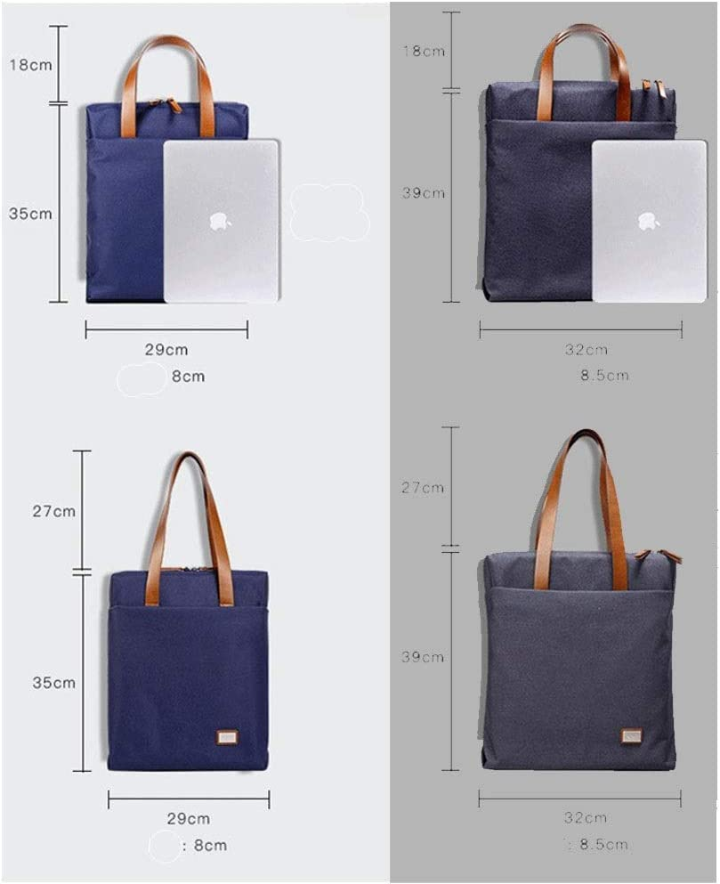 Lydianzishangwu Mens Handbag Official Computer Business Bag Color : Black, Size : M, Style : Small