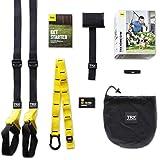 TRX TF00314 Suspension Trainer Home Trx - Juego de accesorios para entrenamiento de suspensión, color amarillo