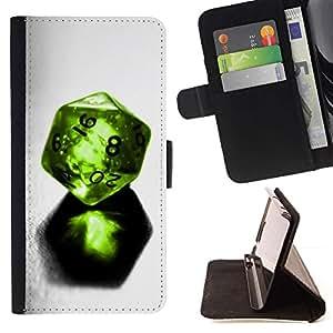For Sony Xperia Z3 Compact / Z3 Mini (Not Z3) Case , Dados Verde Gem 8 16 Juego Suerte- la tarjeta de Crédito Slots PU Funda de cuero Monedero caso cubierta de piel
