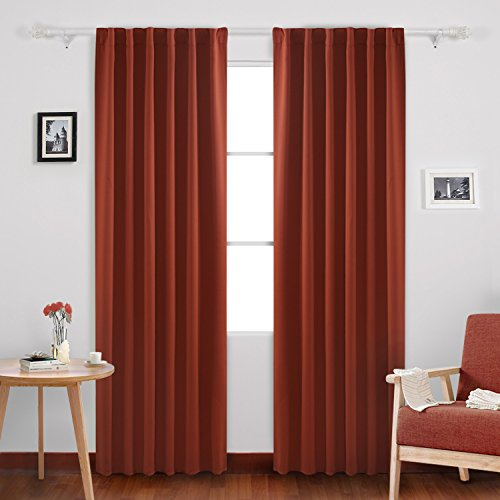 Deconovo Rod Pocket Back Tab Curtains Drapes and Curtains In
