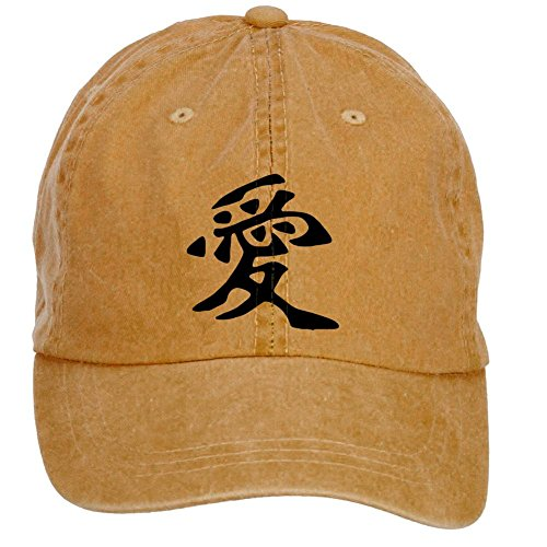 Tommery Unisex Love Chinese Characters Hip Hop Baseball Caps (Halloween Mike Myers Death)