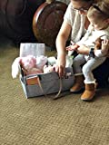 Baby Diaper Caddy Organizer Tote by Sarvoza Perfect for Nursery Changing Table Baby Shower or Moving Room to