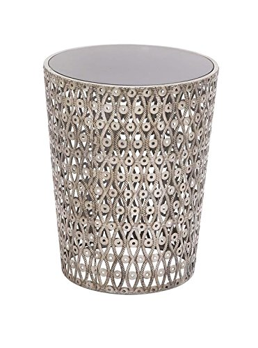 Deco 79 18118 Metal Glass Accent Table, 16