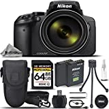 Nikon COOLPIX P900 Digital Camera 83x Optical Zoom, Built-In Wi-Fi, NFC, and GPS + 64GB Memory Card + Backup Battery + High Speed Card Reader + Mini Tripod - International Version