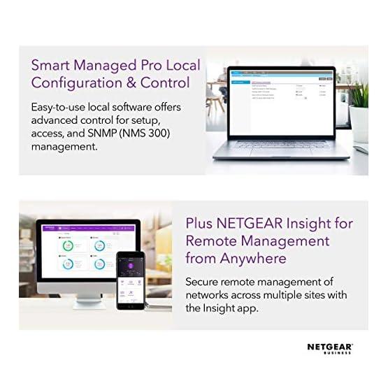 NETGEAR 24-Port Gigabit Ethernet Smart Managed Pro PoE Switch (GS724TP) - with 24 x PoE+ @ 190W, 2 x 1G SFP, Desktop… 513kEuu48RL. SS555