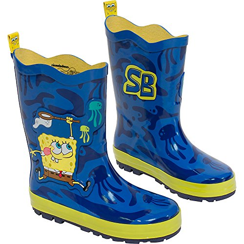 [Nickelodeon Little Boys' SpongeBob Rain Boots, Blue, 12] (Spongebob Outfit)