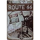 Carteles vintage metálicos de Ruta 66 antiguo. Señales, posters y chapas decorativas decorativas de pared: Route 66. 20 x 30…