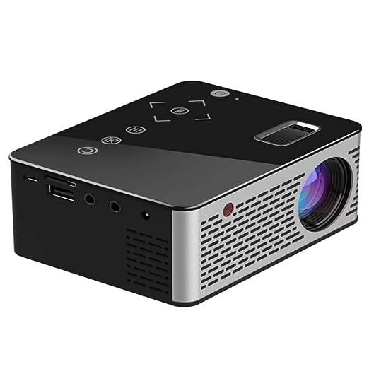 AXDNH Proyector Minl, HD Casa 1080P Sin Pantalla TV El proyector ...