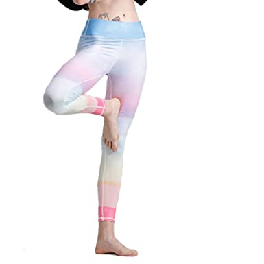 31e6d3b5b9b Mujer Leggings Leggings Yoga De Colores De Arco Iris De Color Degradado  Pantalones De Yoga De